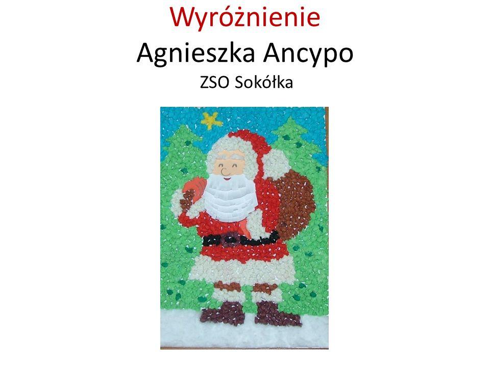 Wyróżnienie Agnieszka Ancypo ZSO Sokółka
