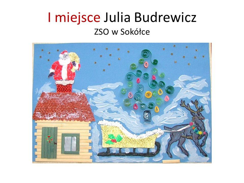 I miejsce Julia Budrewicz ZSO w Sokółce