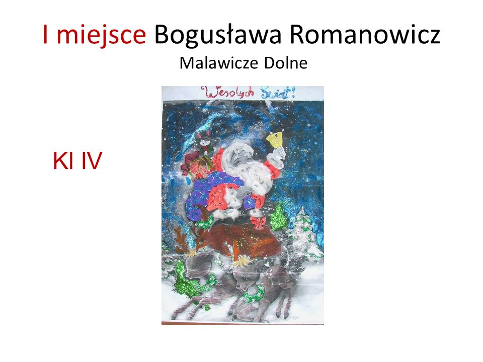 I miejsce Bogusława Romanowicz Malawicze Dolne