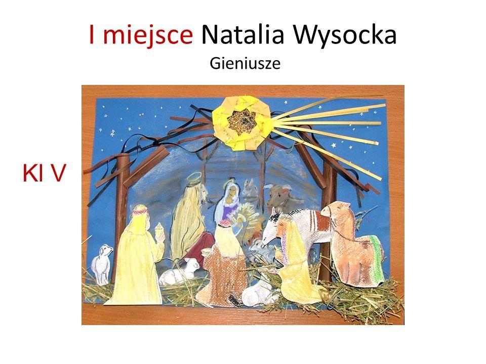 I miejsce Natalia Wysocka Gieniusze