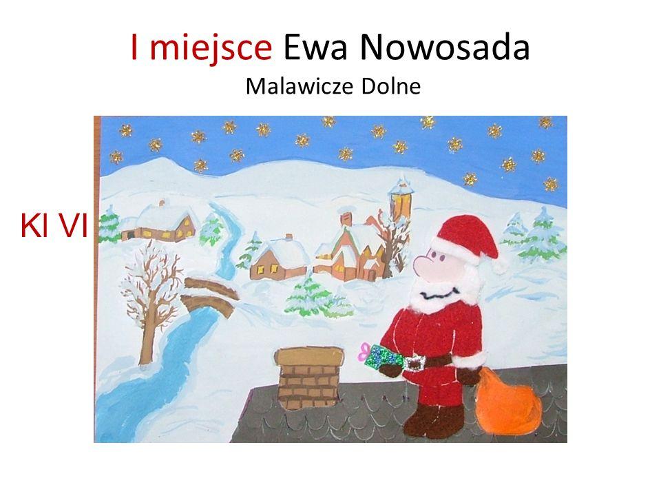 I miejsce Ewa Nowosada Malawicze Dolne