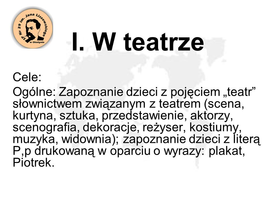 I. W teatrze Cele: