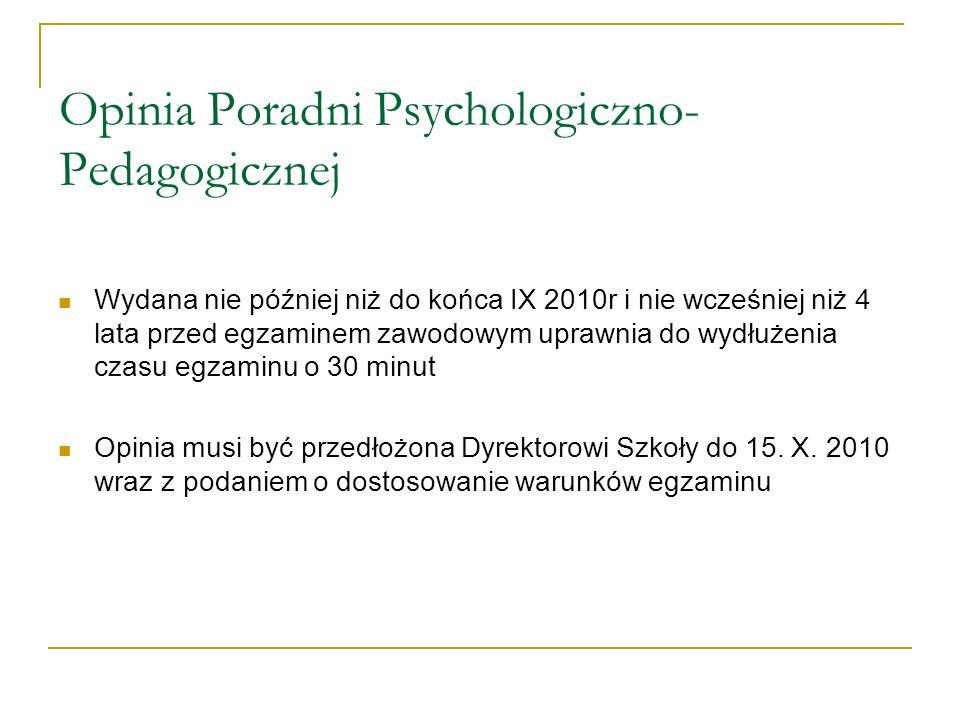 Opinia Poradni Psychologiczno-Pedagogicznej