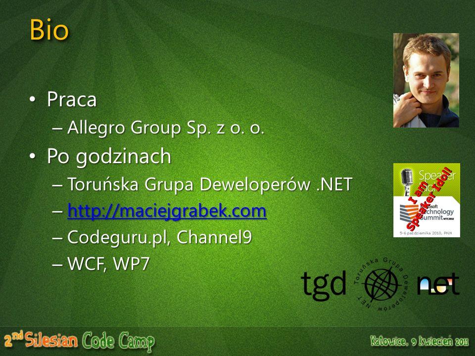 Bio Praca Po godzinach Allegro Group Sp. z o. o.