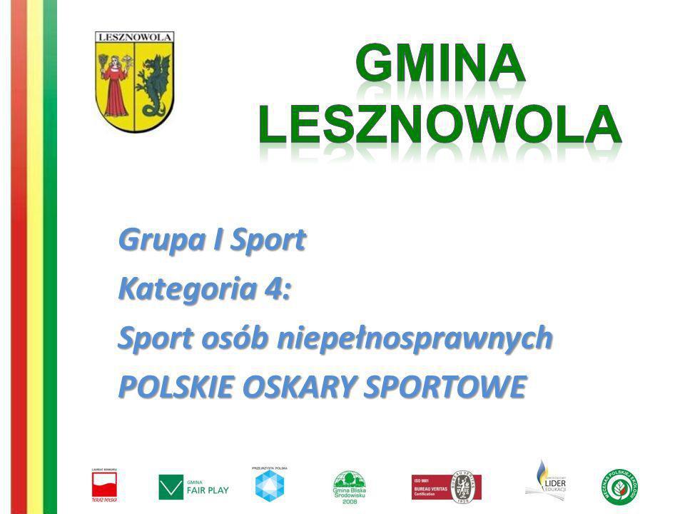 GMINA LESZNOWOLA Grupa I Sport Kategoria 4: