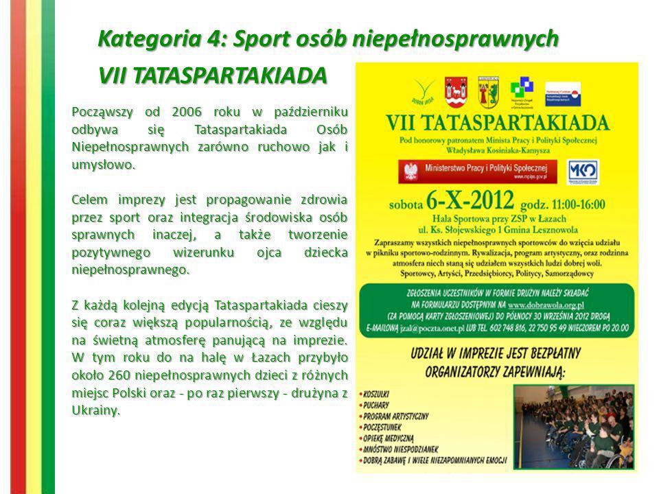 Kategoria 4: Sport osób niepełnosprawnych VII TATASPARTAKIADA