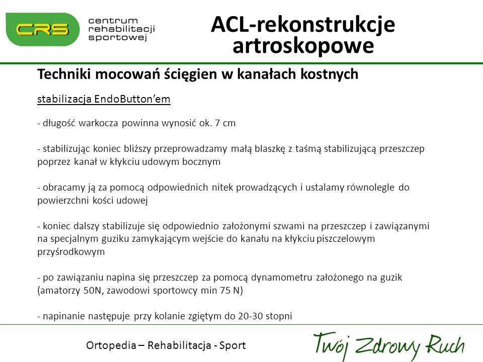ACL-rekonstrukcje artroskopowe