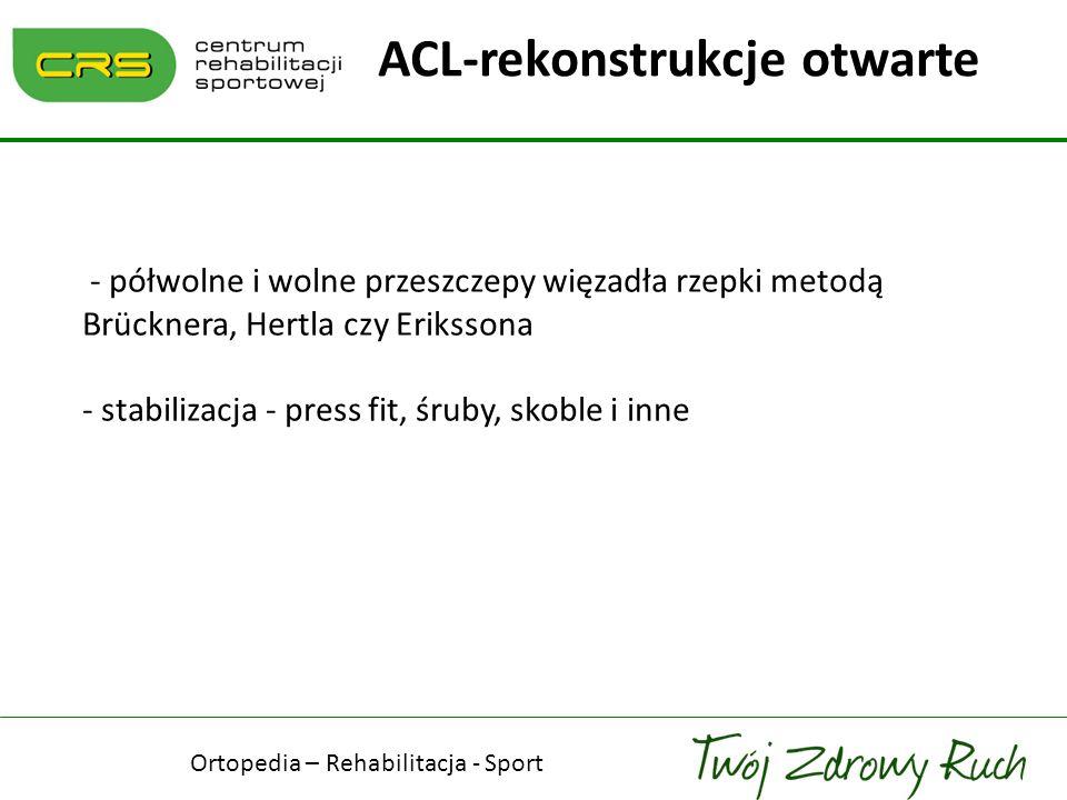 ACL-rekonstrukcje otwarte