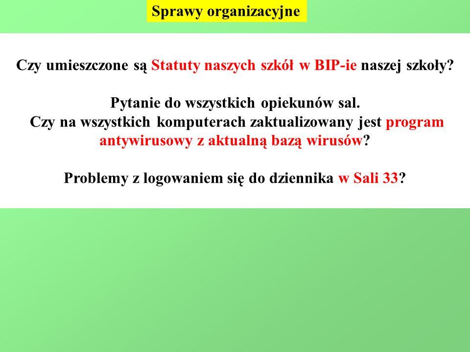 Czy umieszczone są Statuty naszych szkół w BIP-ie naszej szkoły