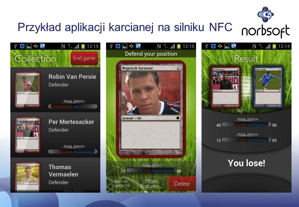 Przykład aplikacji karcianej na silniku NFC