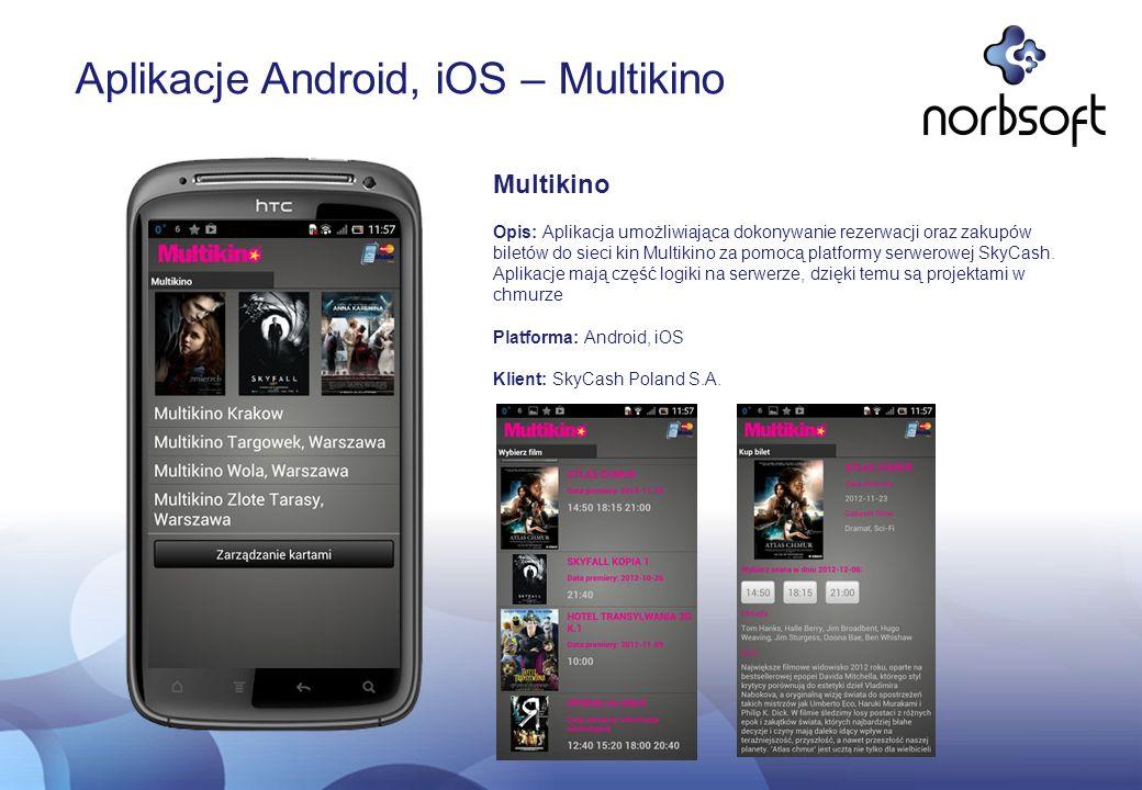 Aplikacje Android, iOS – Multikino