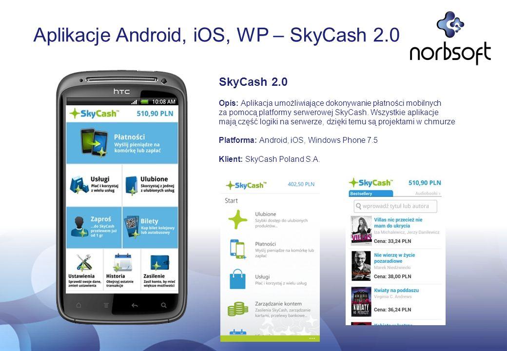 Aplikacje Android, iOS, WP – SkyCash 2.0