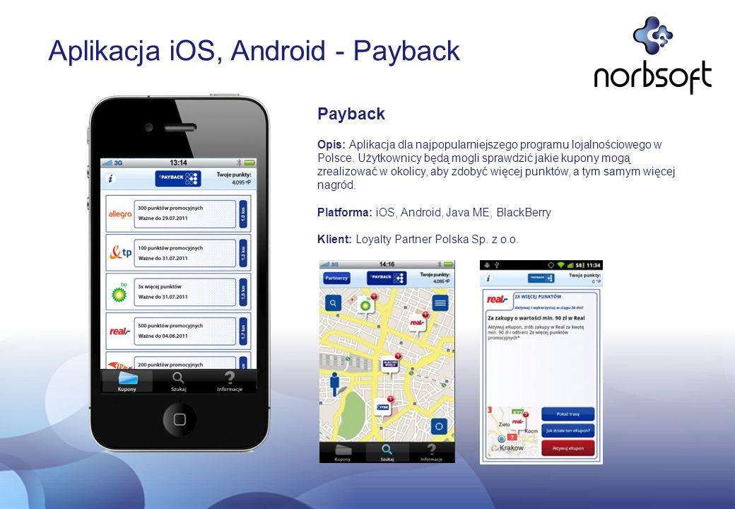 Aplikacja iOS, Android - Payback