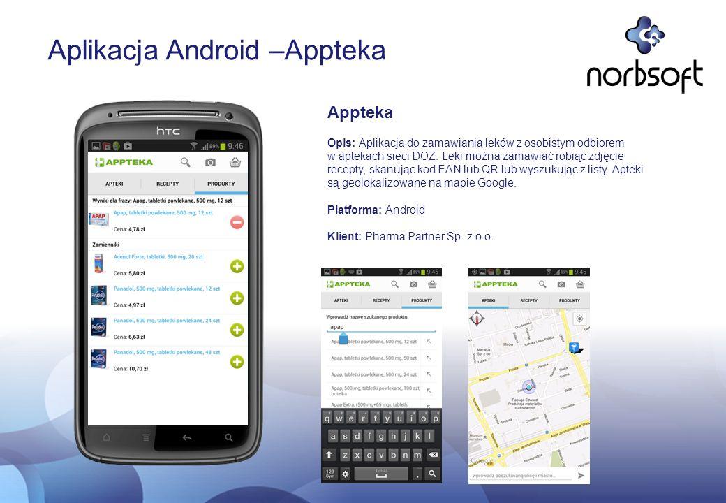 Aplikacja Android –Appteka