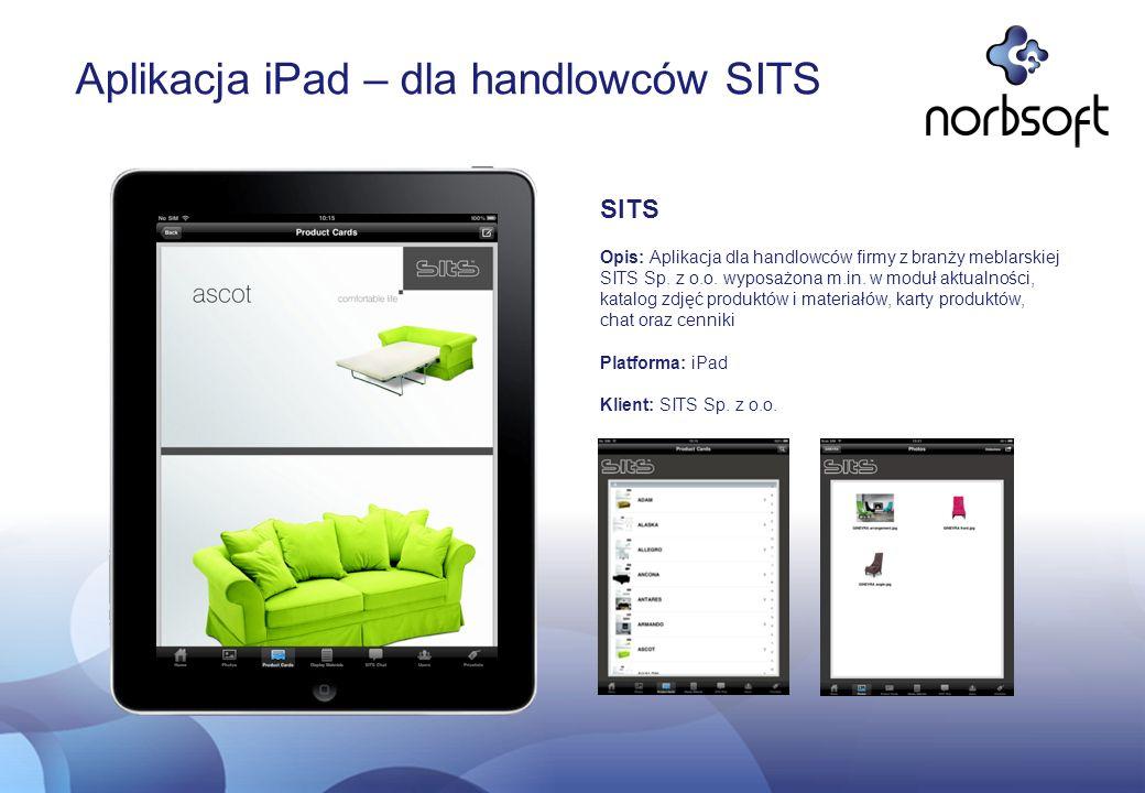 Aplikacja iPad – dla handlowców SITS
