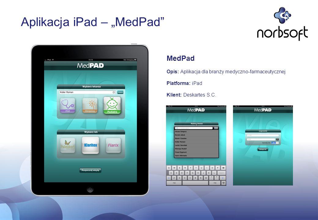 """Aplikacja iPad – """"MedPad"""