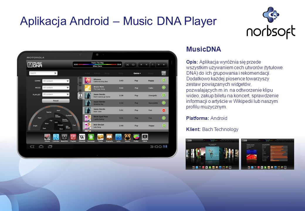 Aplikacja Android – Music DNA Player