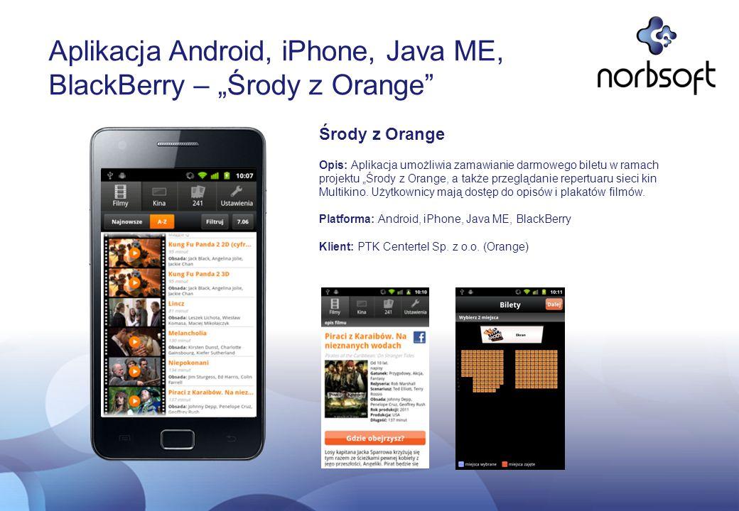 """Aplikacja Android, iPhone, Java ME, BlackBerry – """"Środy z Orange"""