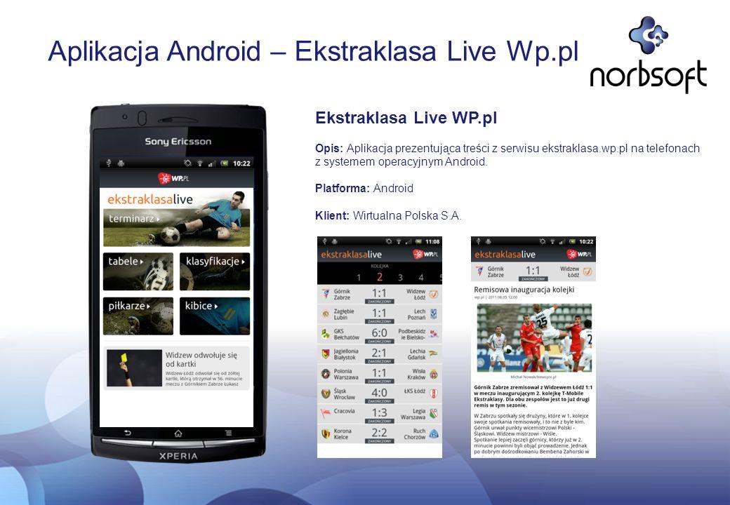Aplikacja Android – Ekstraklasa Live Wp.pl