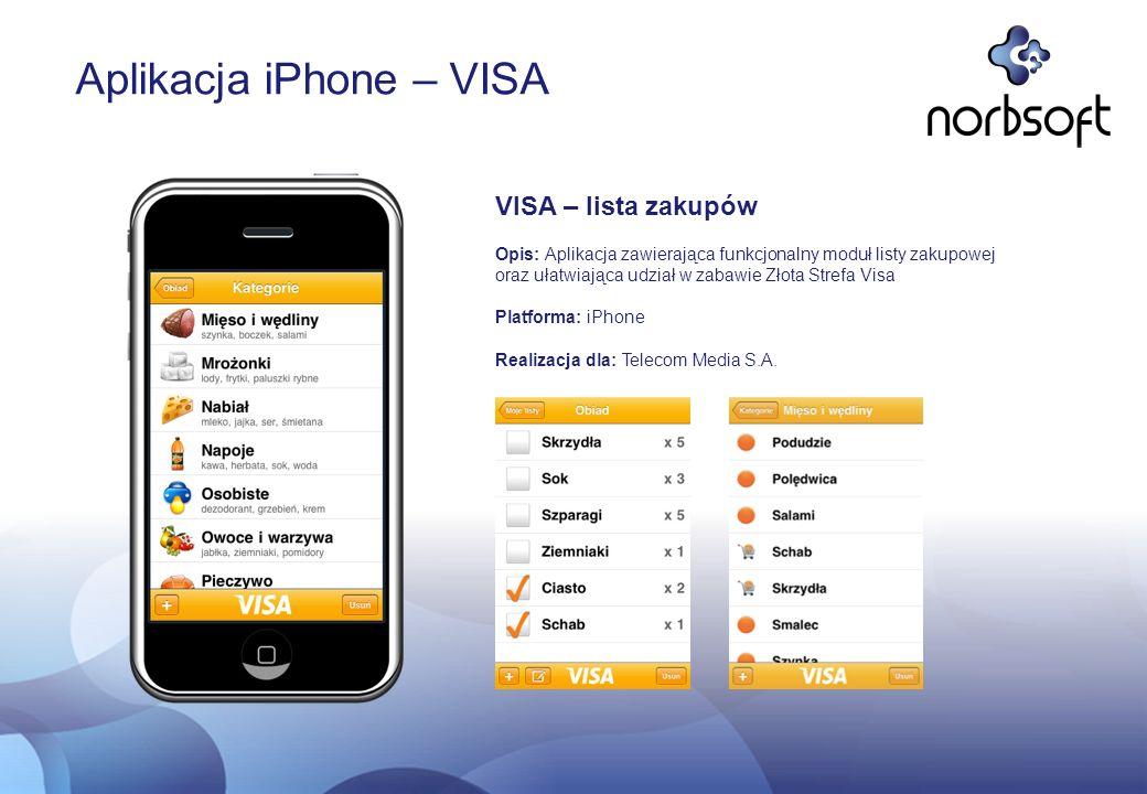 Aplikacja iPhone – VISA
