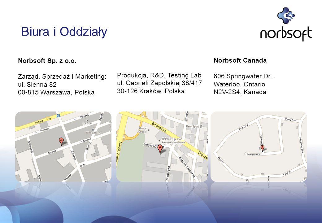 Biura i Oddziały Norbsoft Sp. z o.o. Norbsoft Canada