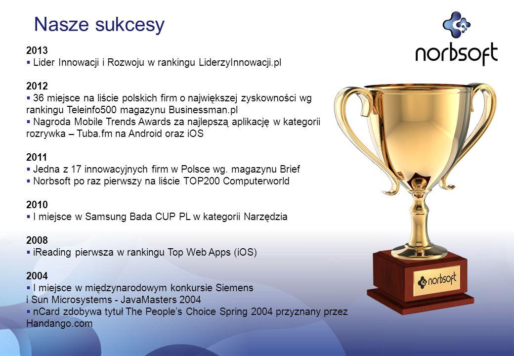 Nasze sukcesy 2013. Lider Innowacji i Rozwoju w rankingu LiderzyInnowacji.pl. 2012.