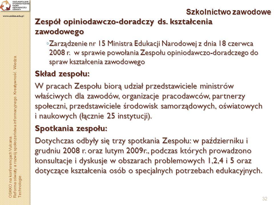 Zespół opiniodawczo-doradczy ds. kształcenia zawodowego