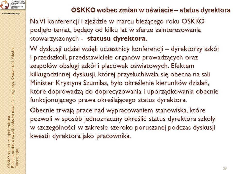 OSKKO wobec zmian w oświacie – status dyrektora