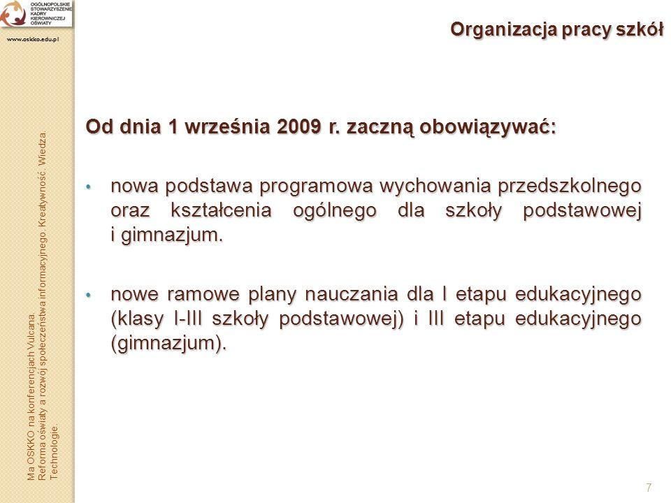 Organizacja pracy szkół