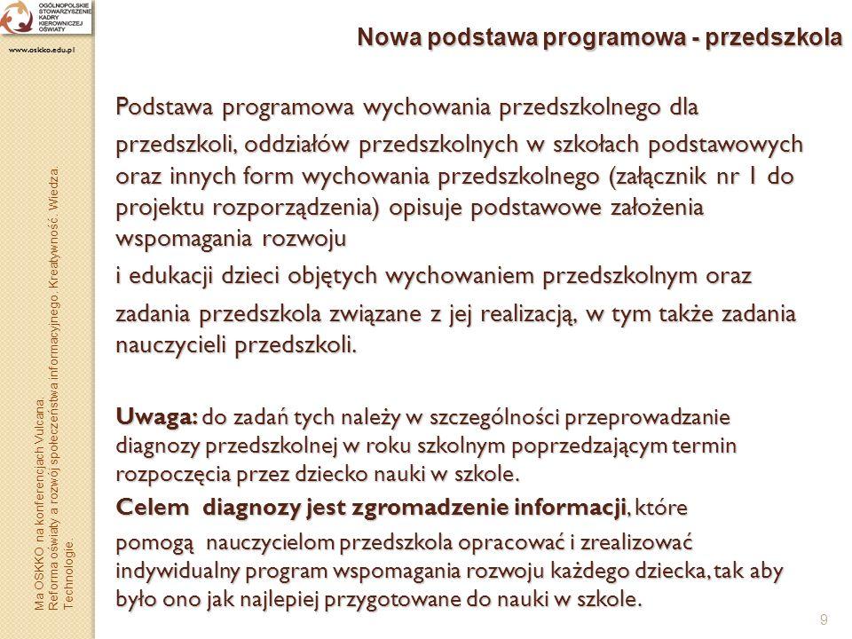 Nowa podstawa programowa - przedszkola