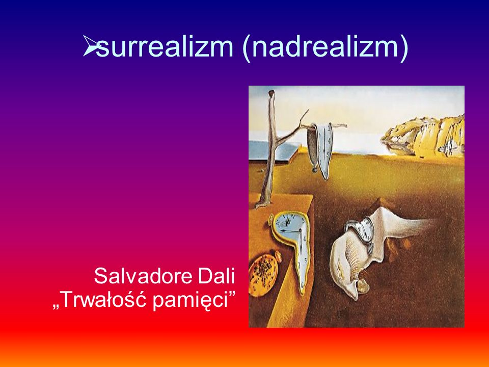surrealizm (nadrealizm)