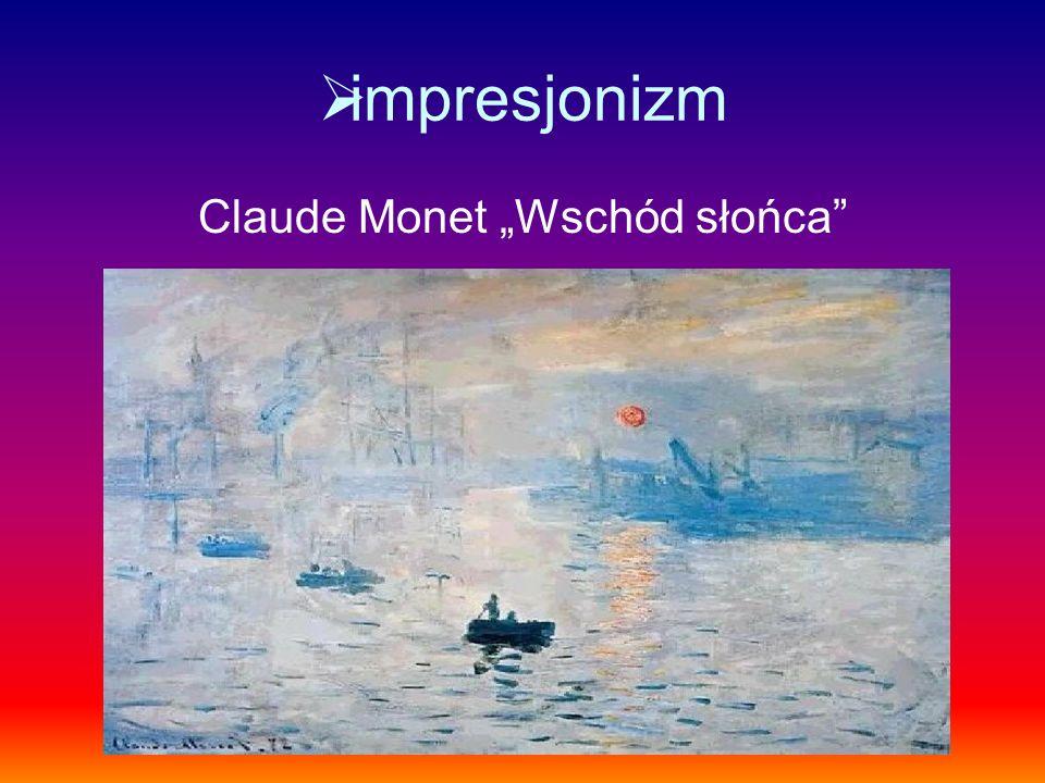 """Claude Monet """"Wschód słońca"""