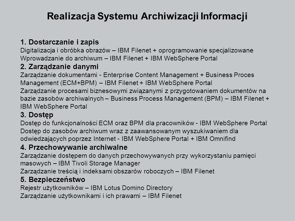 Realizacja Systemu Archiwizacji Informacji