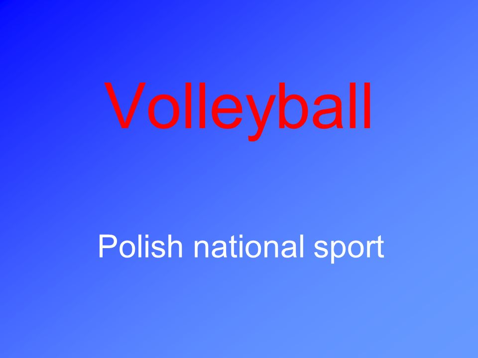 Volleyball Polish national sport