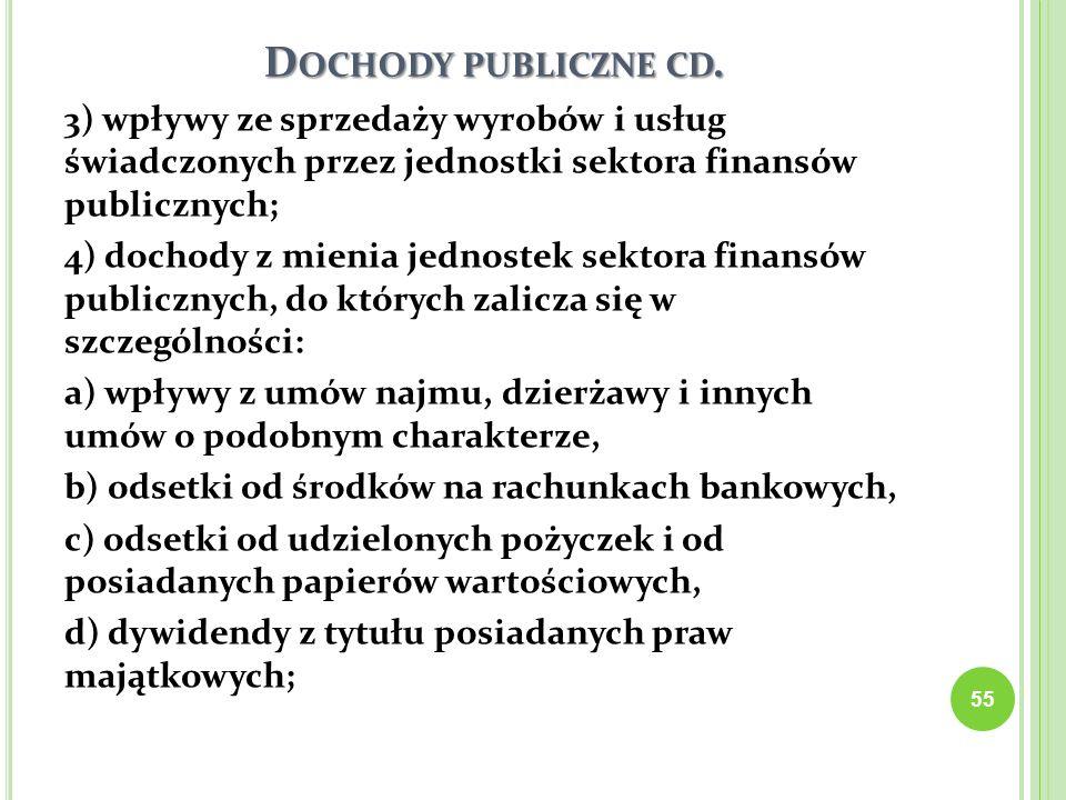 Dochody publiczne cd.