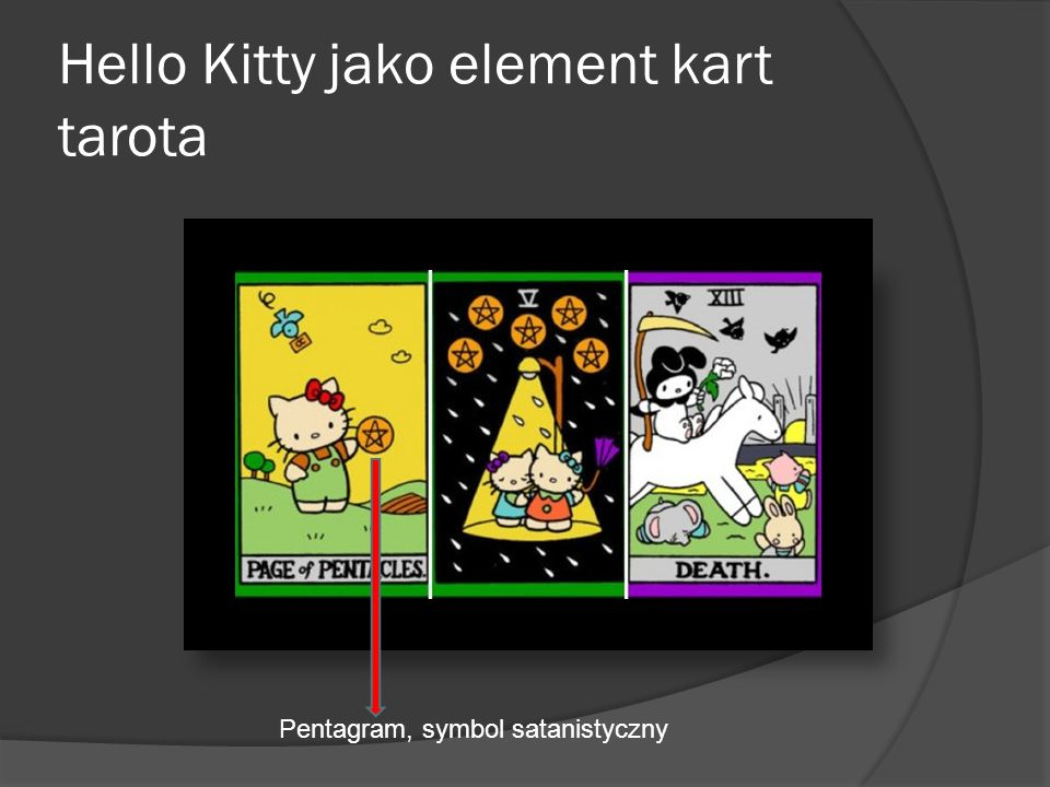 Hello Kitty jako element kart tarota