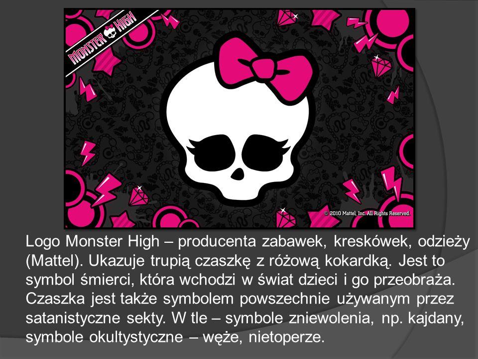 Logo Monster High – producenta zabawek, kreskówek, odzieży (Mattel)