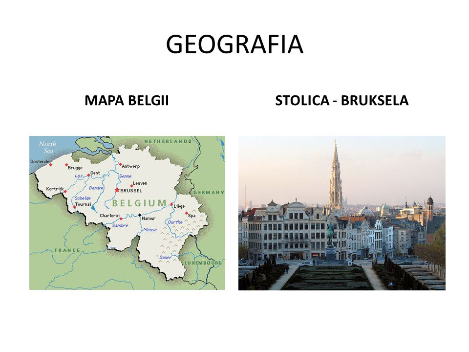 GEOGRAFIA MAPA BELGII STOLICA - BRUKSELA
