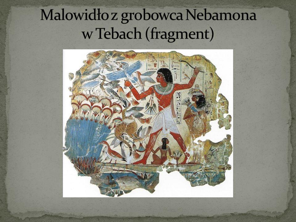 Malowidło z grobowca Nebamona w Tebach (fragment)