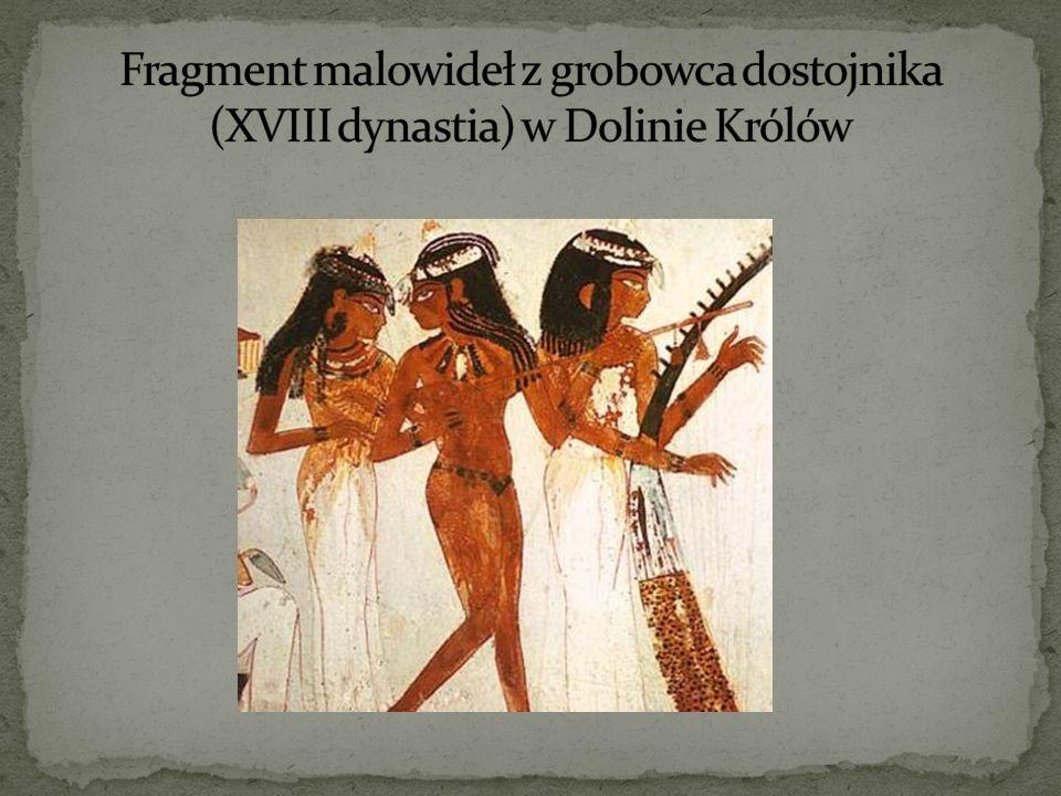 Fragment malowideł z grobowca dostojnika (XVIII dynastia) w Dolinie Królów