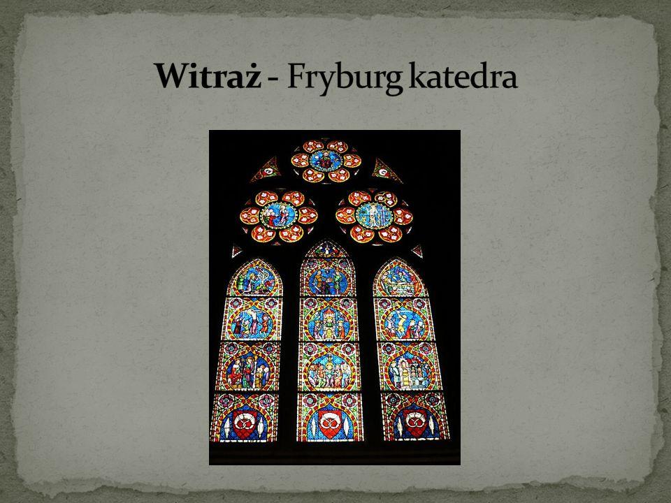 Witraż - Fryburg katedra