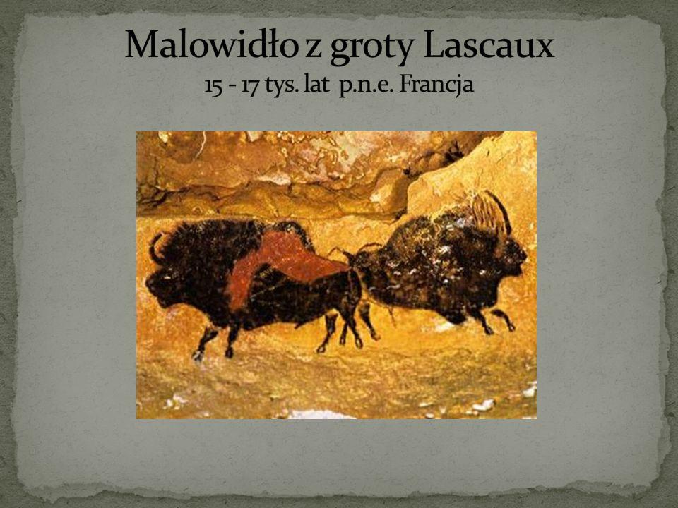 Malowidło z groty Lascaux 15 - 17 tys. lat p.n.e. Francja