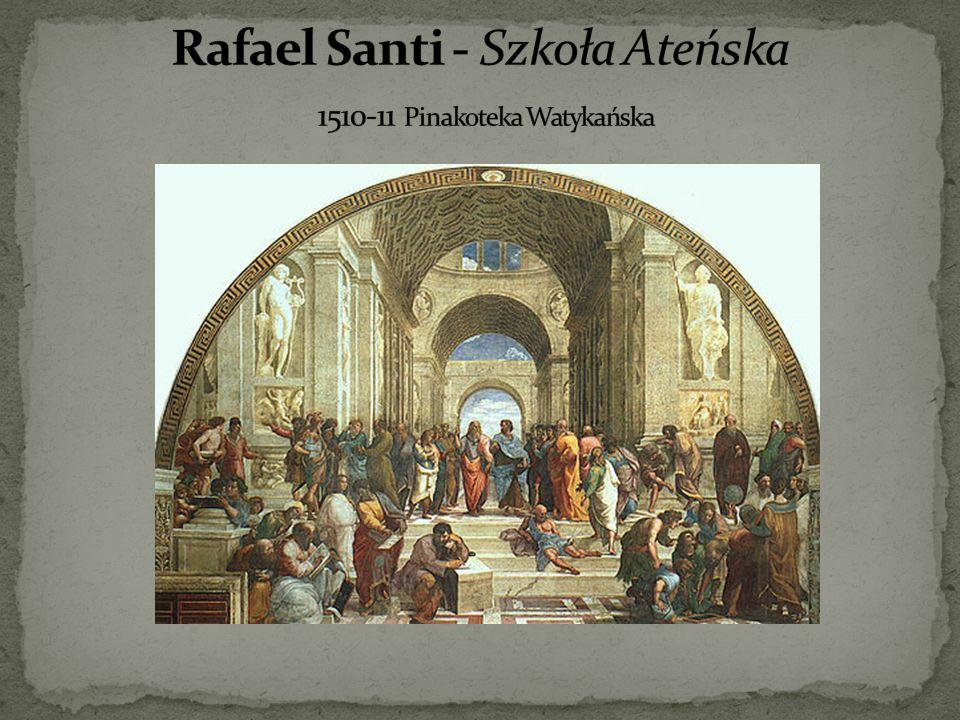 Rafael Santi - Szkoła Ateńska 1510-11 Pinakoteka Watykańska