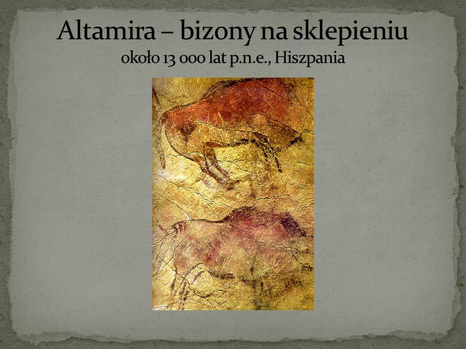 Altamira – bizony na sklepieniu około 13 000 lat p.n.e., Hiszpania