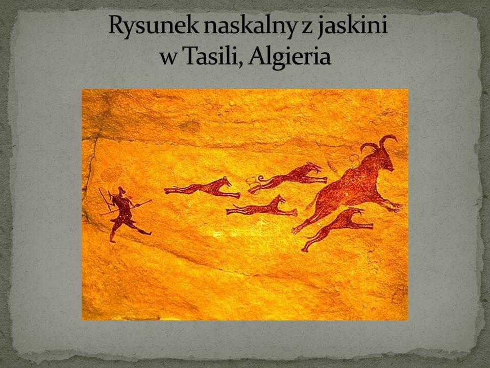 Rysunek naskalny z jaskini w Tasili, Algieria