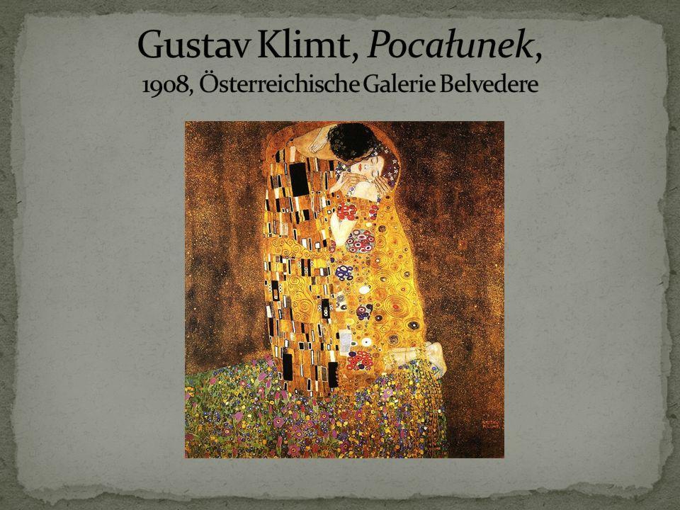 Gustav Klimt, Pocałunek, 1908, Österreichische Galerie Belvedere