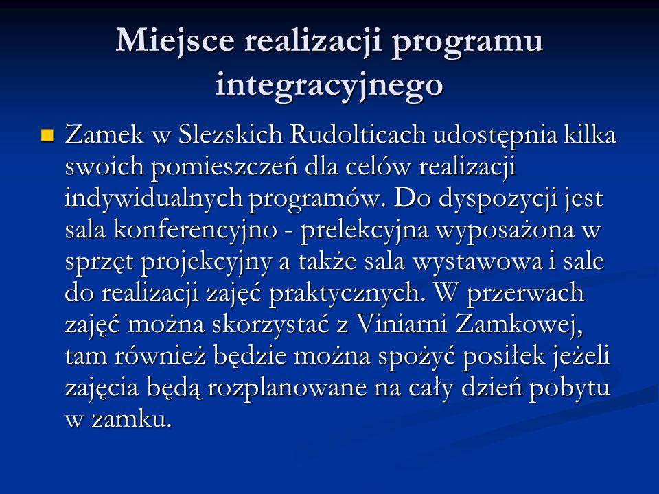 Miejsce realizacji programu integracyjnego