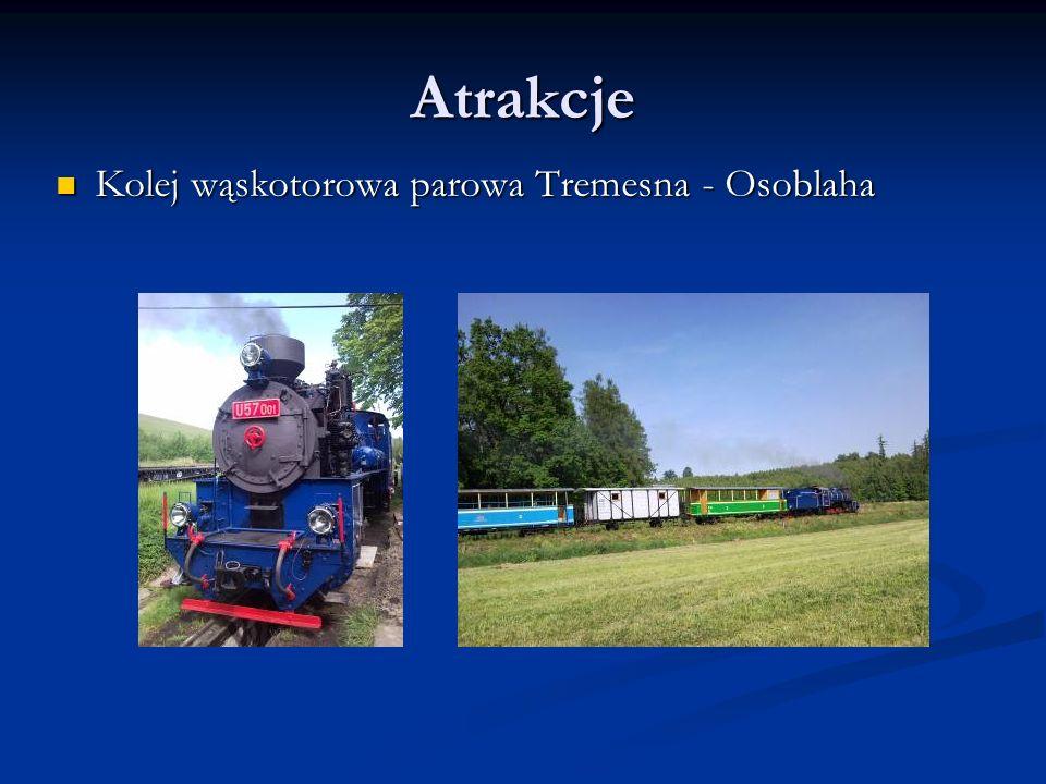 Atrakcje Kolej wąskotorowa parowa Tremesna - Osoblaha