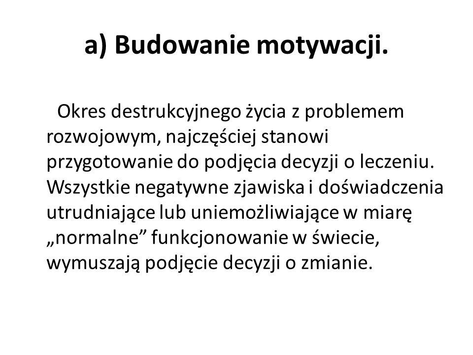 a) Budowanie motywacji.