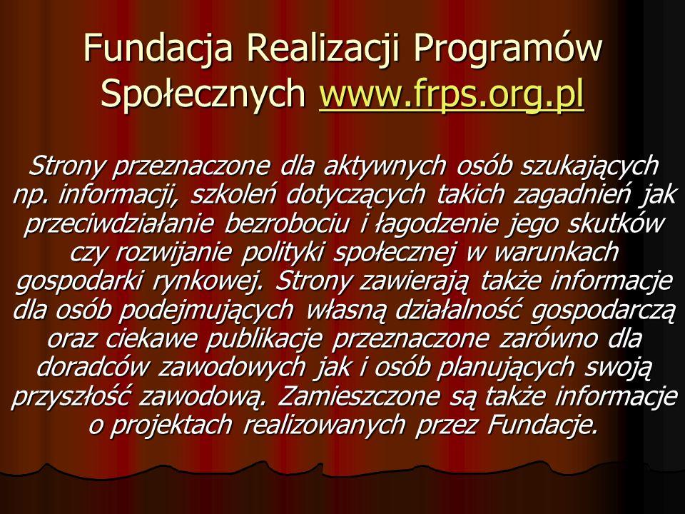 Fundacja Realizacji Programów Społecznych www.frps.org.pl